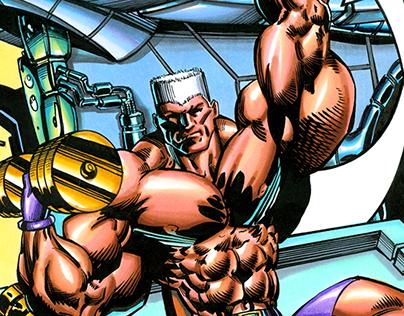 Captain Anabolic Comic for Flex Magazine