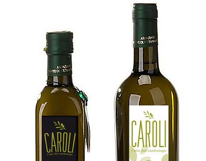 Label for olive oil. Puglia-Italy