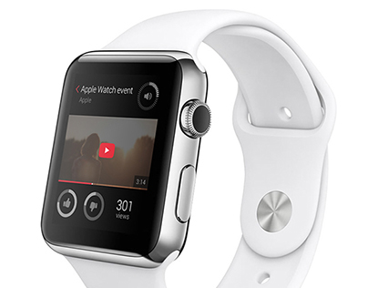 You Tube app concept for Apple Watch