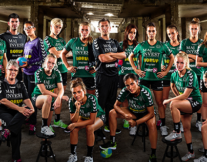 Viborg Handball Club team poster season 2012/14
