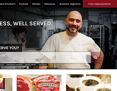Smucker Food Service Website