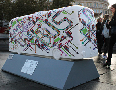Public Art for TfL Year of the Bus Sculpture Trail