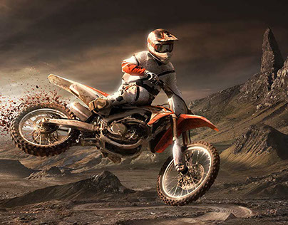 HONDA CRF 450R - Matte Painting and Retouching