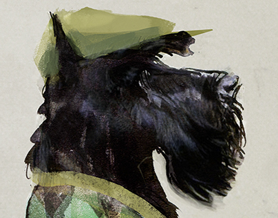 "Scottish Terrier, ""Old Timey"""