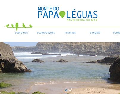 Website Monte do Papa Léguas