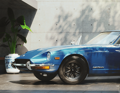 Datsun 240z Full CGI rendering