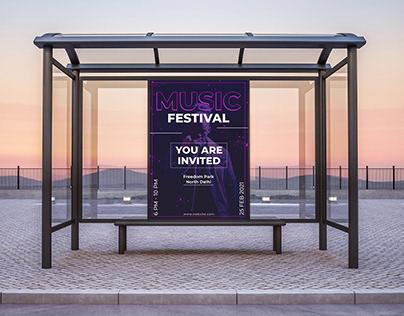 Music Festival Banner Design Concept
