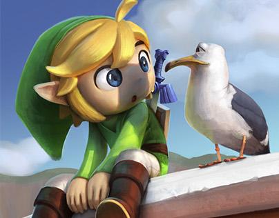 [Fanart] Toon Link . Super Smash Bros Tribute