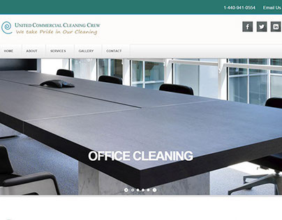 United Commercial Cleaning Crew Responsive Website