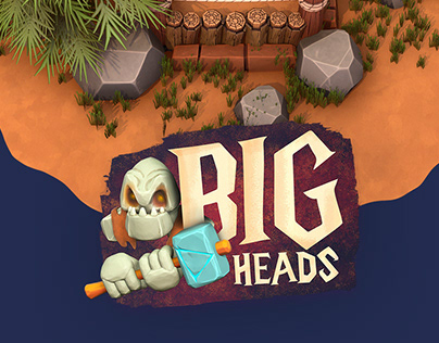 Big Heads - Mobile Game UI and Asset Design
