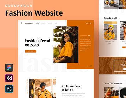 SANDANGAN - Fashion Website Homepage