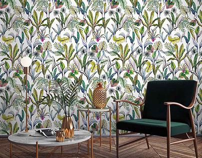 Tropical rainforest wallpaper design for FALRA MAGYAR!