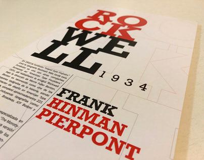 Afiche tipográfico - Tipografía Rockwell