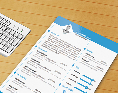 Resume Template with Ms word File ( Free Download )