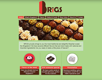 Brigs Gourmet Website and Logo