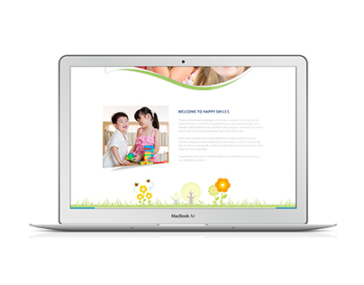 Happy smile webpage design