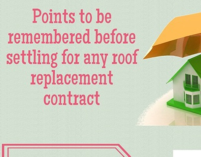 settling for any roof replacement contract