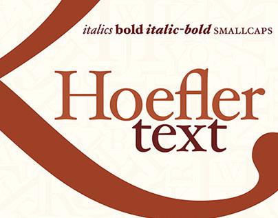Hoefler Text Poster
