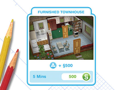 How To Use Coffee Maker In Sims Freeplay : The Sims Freeplay: House Template Button on Behance