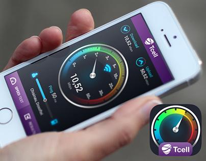 Speed test app GUI