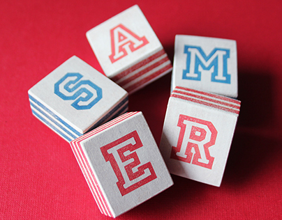 Small hand carved alphabet stamps