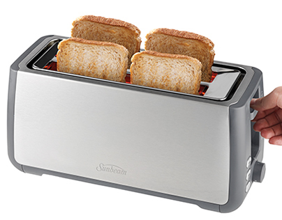 Sunbeam Long Slot Toaster - 4 Slice (TA4540)