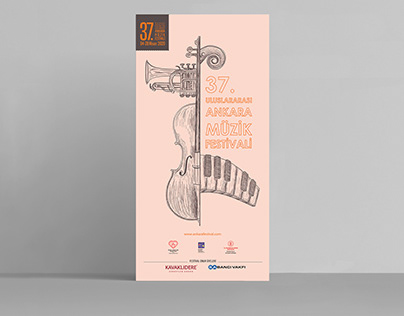 37th International Ankara Music Festival Poster Design