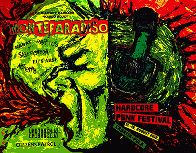 Poster for punk festival Monteparadiso