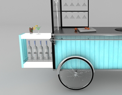 Cocktail movable bar unit / concept