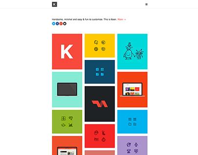 Keen Wordpress Portfolio Theme - by: tienvooracht.nl