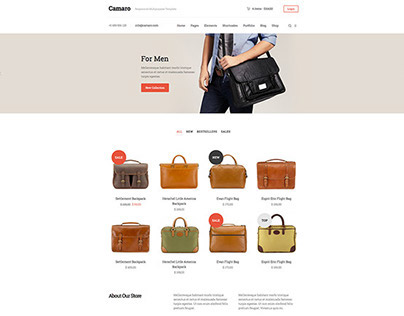 Camaro Bootstrap eCommerce Template by:aisconverse.com