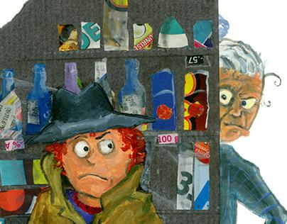 """""""weiss - blau - bunt"""" children's book illustrations"""