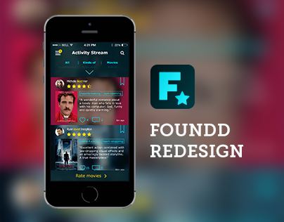 Foundd Redesign - The best way to find new movies