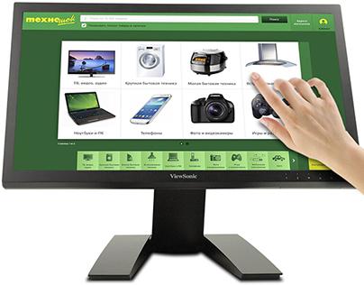 """Прототип интерфейса для магазинов """"Техношок"""""""