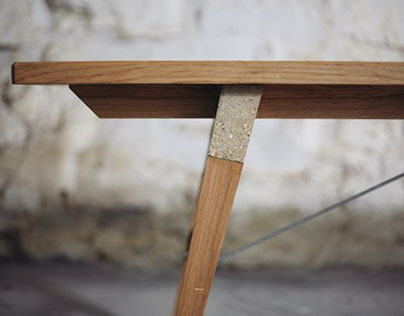 Span Bench - Oak & Concrete