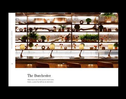 The Dorchester Hotel - Web Concept