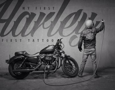 El primer tatuaje hecho con una Harley Davidson