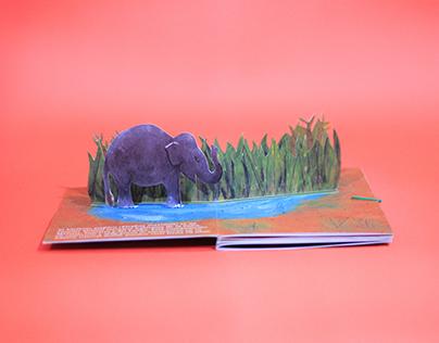 El Elefante Asiático - Pop-up + Illustrations