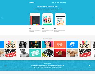 Krative Business Wordpress Theme - by: themebeans.com