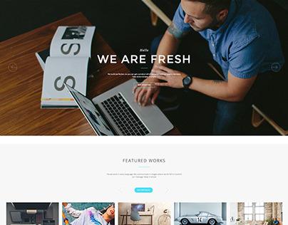 Solido One Page Wordpress Theme by:@jellythemes