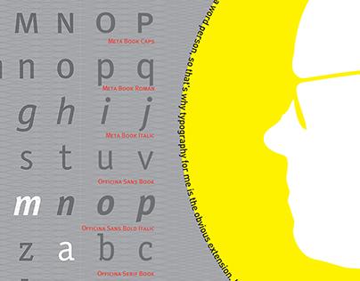 Erik Spiekermann Typography Poster - FF Transit Pict