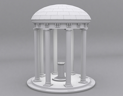 3D architectural monument