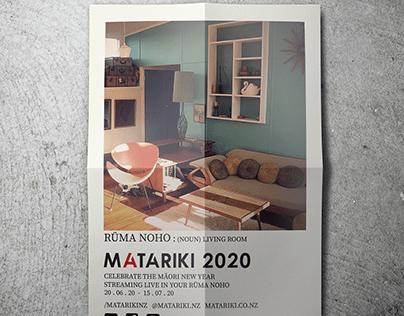 Matariki 2020 Digital Event: A3 Poster Mock Ups