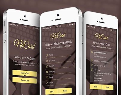 NoCard mobile application version 1