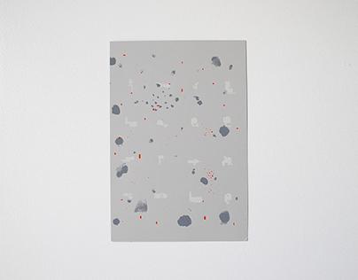 Monochrome/Splatter House Print