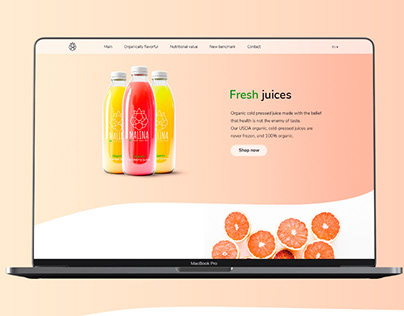Fresh Juices Landing Page