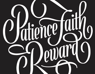 Patience Faith Reward Logotype