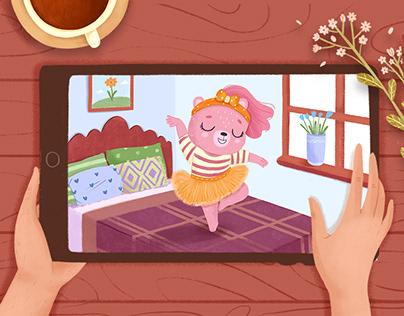 """Clare Bear"" Children's Book Illustrations"