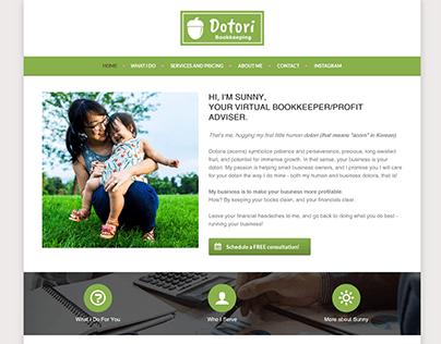 """WordPress Website """"Dotori Bookkeeping"""""""