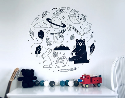 Nursery Wall Painting